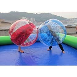 1.2m/3.9ft Inflatabl Striped Bumper Soccer Ball for Kid's Outdoor Play 0.8 PVC