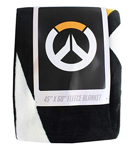 """Surreal Entertainment Overwatch Logo Fleece Throw Blanket Comforter   45"""" x 60"""" Inches  Warm and Soft"""