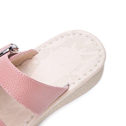 moda basso tacco Sandali a 36 Rosa con alla donna Pantofole tacco DHG piatti alti Tacchi casual Sandali basso da Sandali estivi ZnaFw4qY