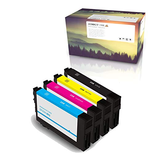 Summit Ink Remanufactured for Epson 802 Ink Cartridge 4 Pack for Workforce Pro WF-4720 WF-4730 WF-4734 WF-4740 Printers -  SUM8024PK