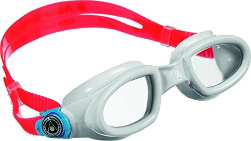 (Aqua Sphere Mako Adult Swimming Goggles - White/Pink/Clear Lens)