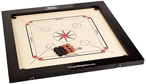 Surco Classic Kids Size Carrom Board with Coins and Striker, 4mm by Surco