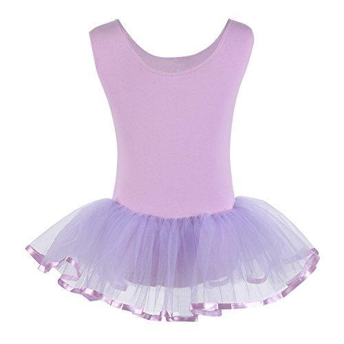 Dance Purple Skirt Dress Dress Yarn Weixinbuy Ballet Vest Girls' Leotard w0xtqnza46