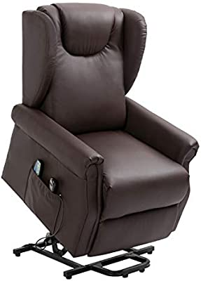 Amazon.com: Trustiwood Electric Brown PU Lift Chair Living ...