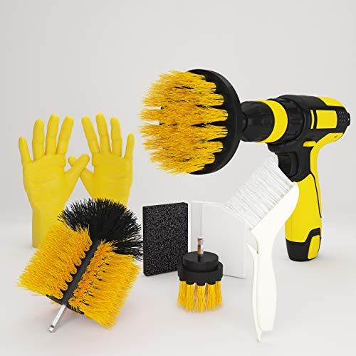Cozzyline Drill Brush Attachment Set - Power Scrubber Brush Cleaning Kit - All Purpose Drill Brush for Bathroom Surfaces, Grout, Floor, Tub, Shower, Tile, Corners, Kitchen, Automotive, Grill. ()