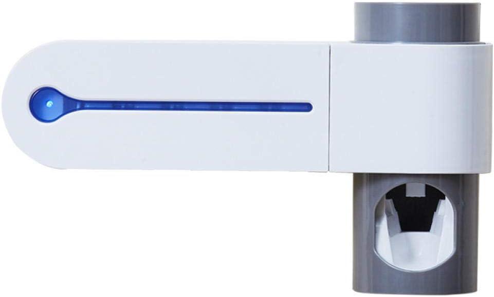 DIEMENG Esterilizador de Cepillo de Dientes Ultravioleta Soporte de Cepillo de desinfección Multifuncional montado en la Pared Extractor de Pasta de Dientes automático Soporte de Diente