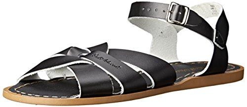 (Salt Water Sandals by Hoy Shoe Original Sandal (Toddler/Little Kid/Big Kid/Women's), Black, 4 M US Big Kid)