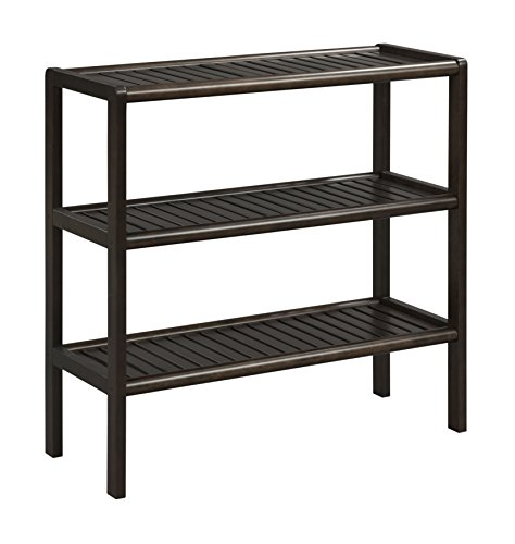 New Ridge Home Goods Abingdon Solid Birch Wood 3 Shelf Console, Large, Espresso by New Ridge Home Goods (Image #5)