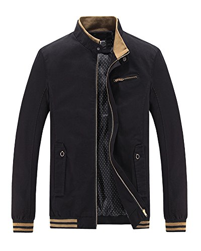 Uomo Cappotto Casual Outwear Giacca Manica Giacche Sottile Lunga Trench Nero Jacket A Upcr64UA