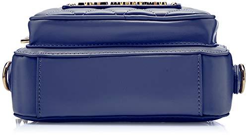 blu Pu Donna Blu Tracolla 15x10x15 H Love Borsa X A Nappa Moschino Quilted Cm L w np46qZtw0