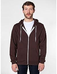 Unisex Flex Plain Full Zip Fleece Hoodie