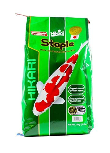 Hikari 11-Pound Staple Floating Pellets for Koi and Pond Fish, (Large Pond Pellet Food)