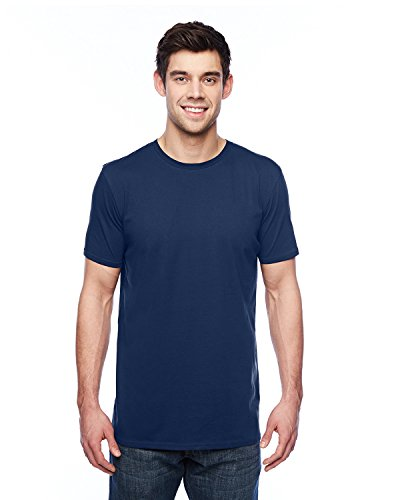 Anvil Short Sleeve T-shirt - Anvil 351 3.2 oz. Short-Sleeve T-Shirt - Navy - XL