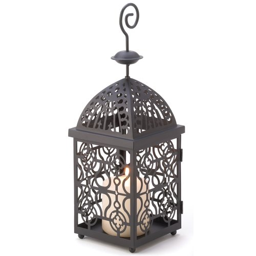 - Gifts & Decor Moroccan Birdcage Iron Candle Holder Hanging Lantern