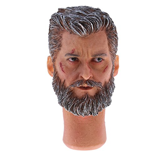Figure Wolverine 12' (Jili Online 1/6 Wounded Face Male Head Sculpt Accessory for 12 inch Logan Action Figure The Wolverine)