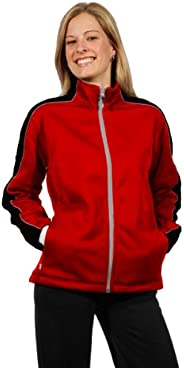 Ladies Oslo Jacket (Red/Black w/Charcoal Piping, LRG)