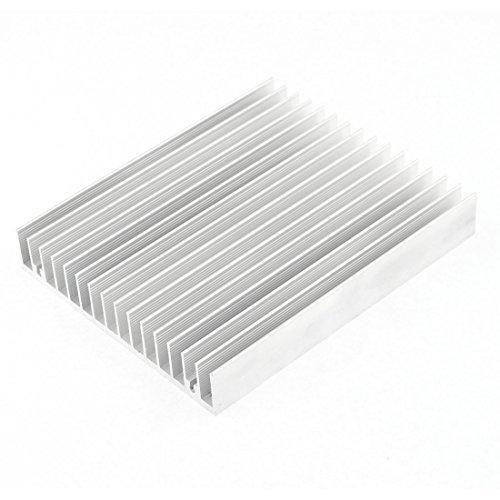 eDealMax Radiateur en Aluminium Dissipateur thermique Difuse évier de refroidissement Fin 120x100x18mm