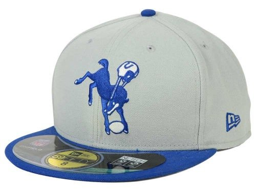 Men's New Era Indianapolis Colts On Field Classic 59FIFTY? Football Structured Fitted Hat, 7 7/8
