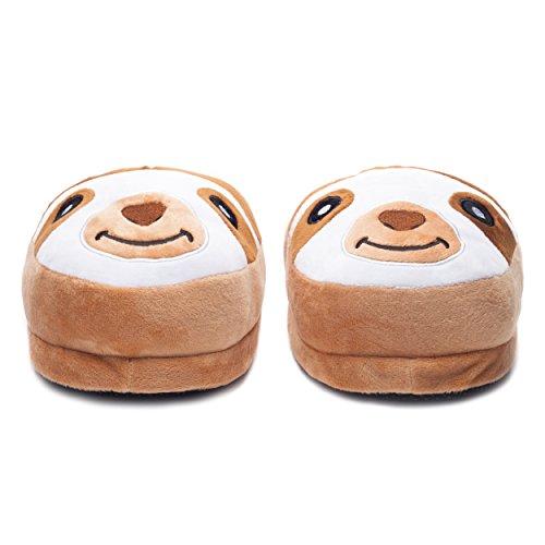 Chaussons en Peluche Modèle Fermé en Forme de Paresseux Pantoufles Chaudes Automne / Hiver Chaussures dIntérieur, Unisexe Pour Tailles 36-45