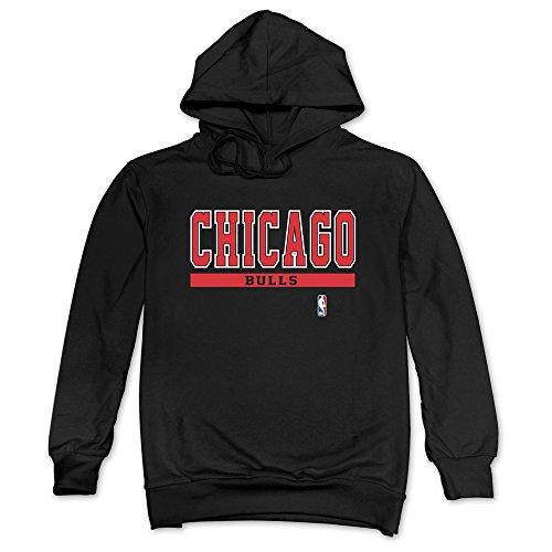Chicago Bulls Cut And Paste Hoodie Black Mens Artistic