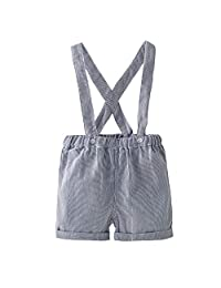 Baby Suspender Shorts Dungarees Boys Adjustable Bib Overall Blue 9-12 Months