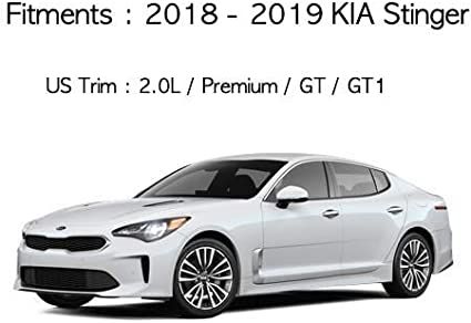 Aoneparts Carbon Fabric Inside Door Panel Protect Cover 4pcs for 2018~2019 KIA Stinger