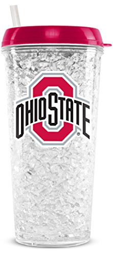 Ohio Crystal State - NCAA Ohio State Buckeyes 16oz Crystal Freezer Tumbler with Lid and Straw