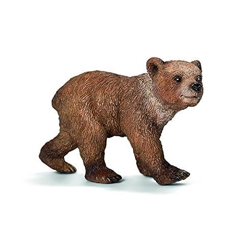 Schleich Grizzly Bear Cub Toy (Dipinto A Mano Orso)
