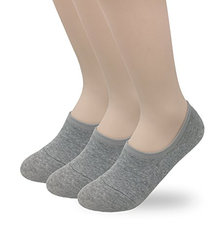Eedor Women's 3 Pairs Thin Low Cut No Show Casual Socks Liner Gray S17