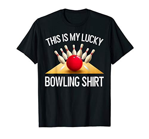 Funny LUCKY BOWLING T-Shirt Team Vintage Retro Gift ()