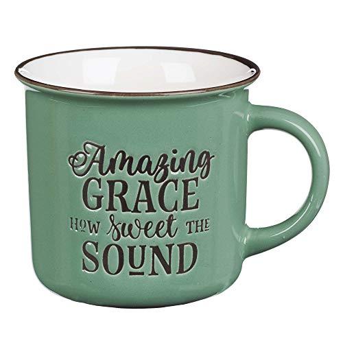 Amazing Grace Green Camp Style Coffee Mug