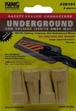 King Safety Products 20101 Tan Underground Wire Connectors 4 Count