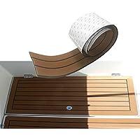 Toogou Nouvelle Génération en Mousse EVA antidérapant Marine Tapis de Sol Couvert avec adhésif 3m, terrasse en Teck de synthèse pour Bateau, Kayak