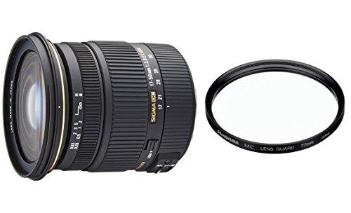 SIGMA 標準ズームレンズ 17-50mm F2 8 EX DC HSM ペンタックス用 &ハクバ レンズ保護フィルター(MCレンズガード77mm)