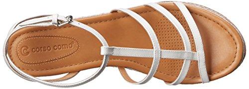 Vachetta Platform Como Women's Sandal Espadrille White Codi Corso wSaq0nBB