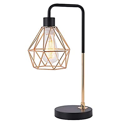 COTULIN Bedside Table Lamp, Delicate Design Desk Lamp for Living Room Bed Room,Gold - Input: AC 110V - 120V,max 60W, E26 bulb(not included). Size: Height 17 inch,diameter 6.7 inch, please note the size. Quality Assurance: Our product focused on trendy style and concentrate more on quality,have got the UL certification of US. - lamps, bedroom-decor, bedroom - 415k99jzG L. SS400  -