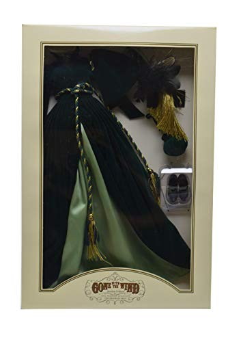 Scarlett O Hara Curtain Dress (Gone With The Wind - GREEN INGENUITY OUTFIT - THE DRAPERY/ CURTAIN DRESS - Scarlett O'Hara Doll Wardrobe Collection by The Franklin)