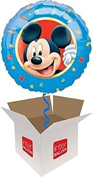 Globo inflado de helio con diseño de Mickey Mouse de Disney, se entrega en una caja: Amazon.es: Juguetes y juegos