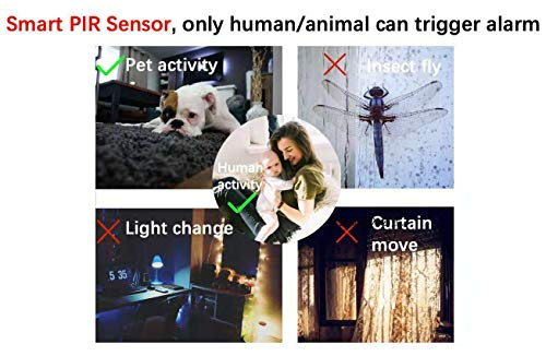 Battery Powered Security Camera, Wireless and Wire-Free, Home Security Camera with Night Vision & PIR Alarm for Baby/Pet Monitor