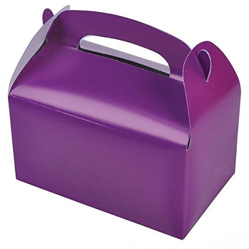Purple Party Treat Boxes (Pack of 12)