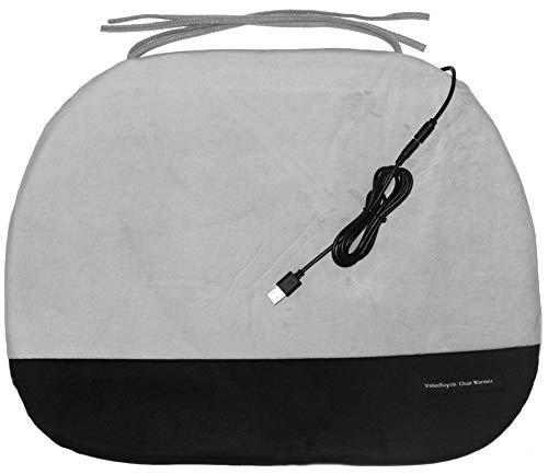 ValueRays® Chair Warmer, USB Heated Warm Chair Pad, Infrared Heat Chair Pad, Warm Office Chair Pad (Seat Warmer Chair Office)