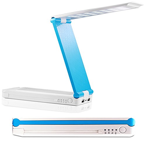 MEKO 2-in-1 8400Amh  Charger with Foldable  Table Lamp for all Cellphones and Tablets - White+Blue