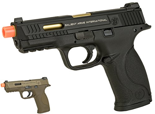 Evike EMG/SAI/Smith & Wesson Licensed M&P 9 Full Size Airsoft GBB Pistol - Black (Package: Gun Only) - (62331)