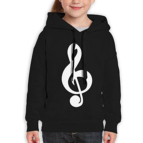 Price comparison product image FDFAF Teenager Youth Music Note Symbol Hiphop Casual Style Hoodie Sweatshirt M Black