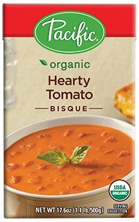 - Pacific Foods Organic Hearty Tomato Bisque, 17.6-Ounce Cartons, 12-Pack