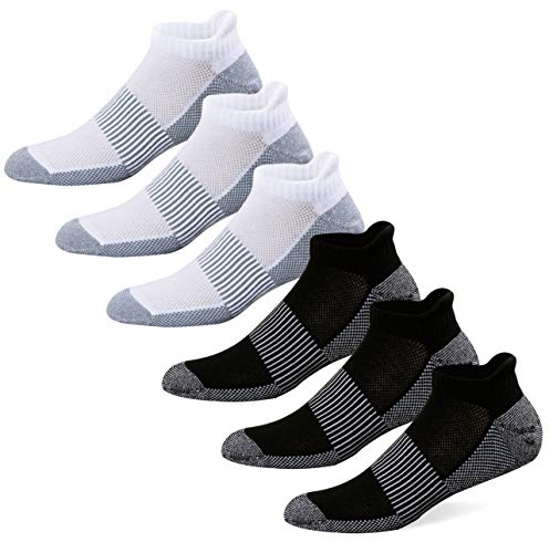 WELL KNITTING Copper Antibacterial Unisex Athletic No Show Sport Socks 6 Pairs