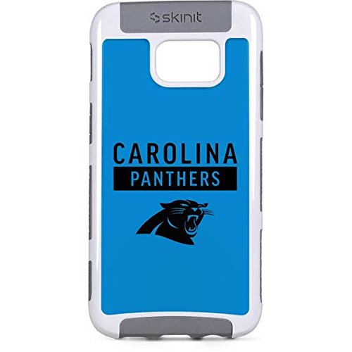 (Skinit NFL Carolina Panthers Galaxy S7 Edge Cargo Case - Carolina Panthers Blue Performance Series Design - Durable Double Layer Phone Cover)