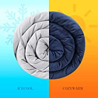 """Allike Oeko-Tex Certified Weighted Blanket 15 lbs - 60""""x80"""" Glass Beads with 2 Duvet Covers for Hot & Cold Sleepers All…"""