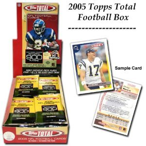 (2005 Topps Total Football Cards Unopened Hobby box - Aaron Rodgers Rookie Year!)