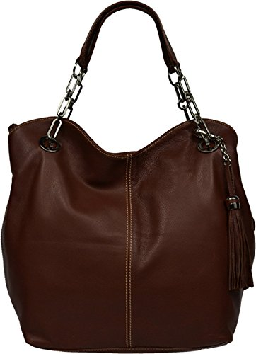 Neue Hand Tasche, Borsa a spalla donna marrone brown medium